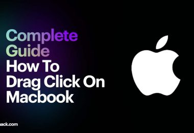 how to drag and click on macbook